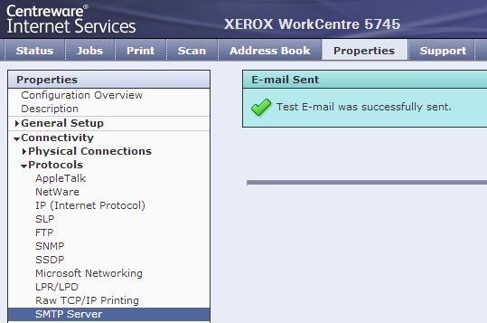 Scan to email on Xerox WorkCentre 5700 series MFP - Gmail